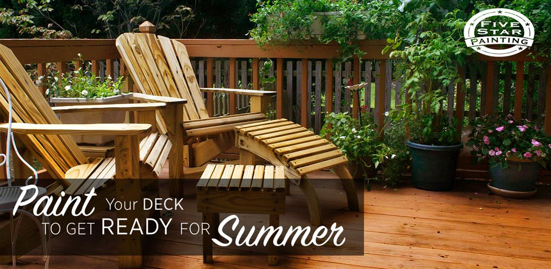 Paint Your Deck to Get Ready for Summer